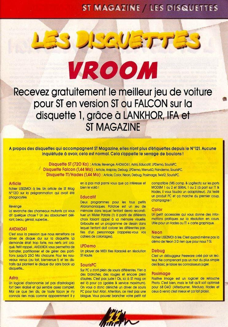 Atari ST Vroom [Falcon030] : scans, dump, download
